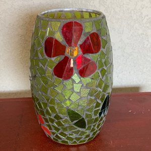 Christmas Stained Glass Candle Holder